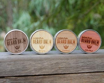 Beard Balm - All Natural Organic Beard Grooming and Facial Care Handmade in Small Batches - Peppermint Scent 2 oz.