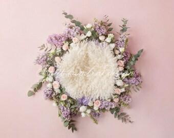 Newborn Digital Backgdrop - Lilac dream 2