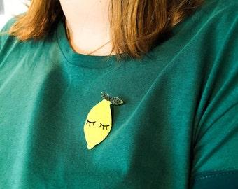 PIN lemon - Citrus - Handmade - La Rochelle