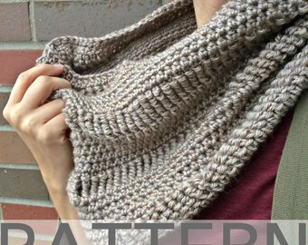 Crochet Cowl Pattern | The Sand Drift Cowl | Crochet Infinity Scarf Pattern