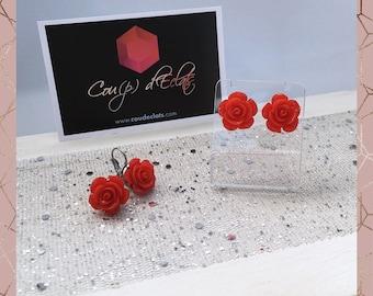 Earrings / rings flowers
