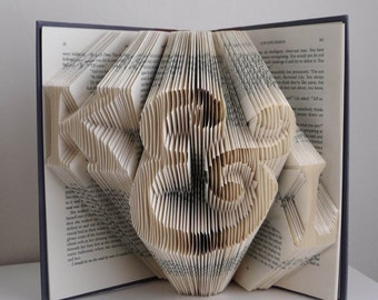 Paper Anniversary - 1st First Wedding Anniversary Gift for Boyfriend / Husband - Folded Book Art Sculpture - Best Selling Item - Origami