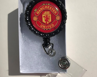 Manchester United Nurse Retractable ID Badge Reel, ID card holder, badge holder, lanyard, badge