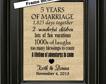 FRAMED 15th Anniversary Gift for couple/15th Anniversary