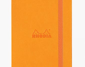 Rhodia Web Notebook - Dot Grid Pattern - Orange