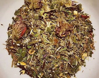 Womens Roar - Organic Loose Leaf Tea, Menstrual Tea, PMS Tea, Red Clover, Lemon Balm, Hibiscus, Raspberry Leaf, Orange Peel, Spearmint