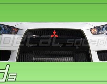 Mitsubishi Lancer 08 16 Lancer Front And Rear Emblem Decal Overlay Set EVO