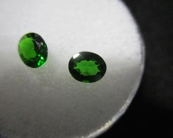 CHROME DIOPSIDE MATCHING Pair 1.08Ct  MF665