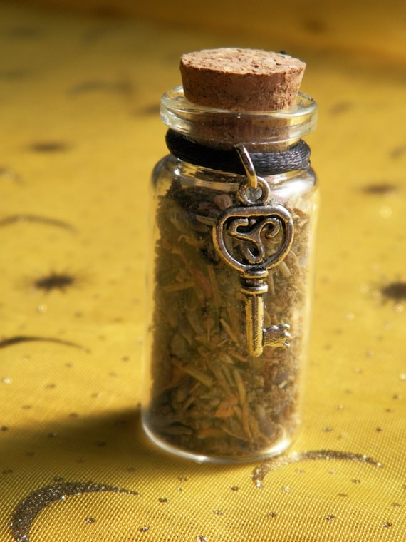 Release Witch Bottle Handmade Herbal Blend Ritual Supply Incense Overcoming Grief Unblocking Chakra