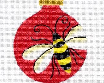 Bumble Bee Needlepoint Ornament     B6/02