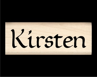 Kirsten - Name Rubber Stamp for Kids
