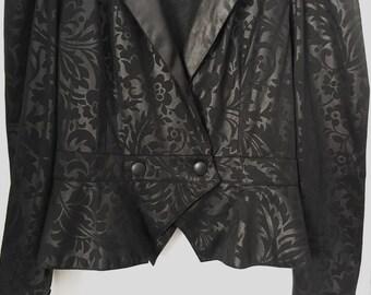 80s Beautiful Vintage Bolero Jacket Shrug Classic Vintage Women Size M Blazer