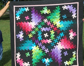 Twister quilt made of batiks