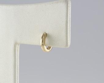 14K 7.2 mm Solid Gold Huggie Hinged Hoop Earring, Huggie Hoop, Gold Huggie, Small Gold Hoop, Cartilage, Conch, Helix, Tragus, EF1593