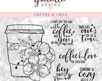 Coffee & Love Digital Stamp Set
