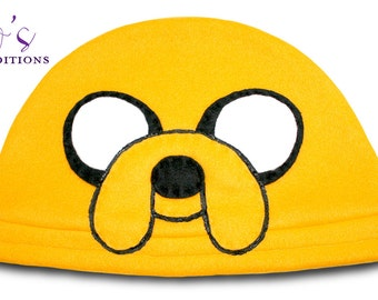 Adventure Time - Jake Hat / Fleece Hat / Winter Hat / Adventure Time Hat