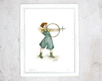 Print Feminism | Illustration Art Giclee Print | Poster | limited edition | Female Symbol - Woman's Day - Amazon - Gender | Drawing