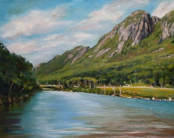 Eagle Cliff New Hampshire Framed Oil Painting
