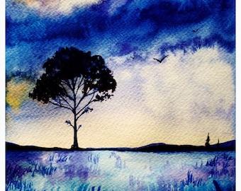 Autumn Sunset A3 Print
