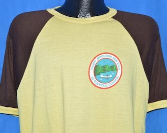 80s Camp Mountain Run Boy Scouts Two Tone t-shirt Large