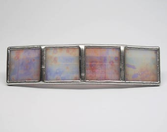 Pink Shimmer - Large Stained Glass French Barrette