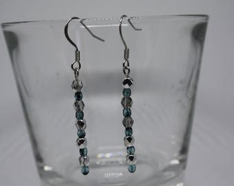 Earrings Half Crystals