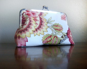 Flowers Vintage Inspired Clutch Bag Purse by Lolis' Creations