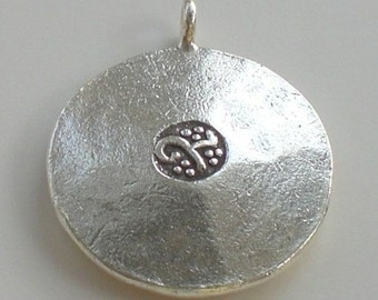 21mm OM Yoga Pendant Karen Hill Tribe Fine Silver HT-153-A