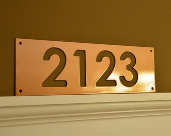 Custom Address Marker - Horizontal House Number - Metal Address Sign