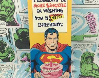 Vintage Generous Superman Birthday
