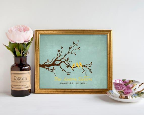 sp ciale no l soeurs cadeau cadeaux pour soeur soeur wall. Black Bedroom Furniture Sets. Home Design Ideas