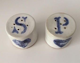 Salt & Pepper Shaker | Bonnie | Stoneware | Vintage