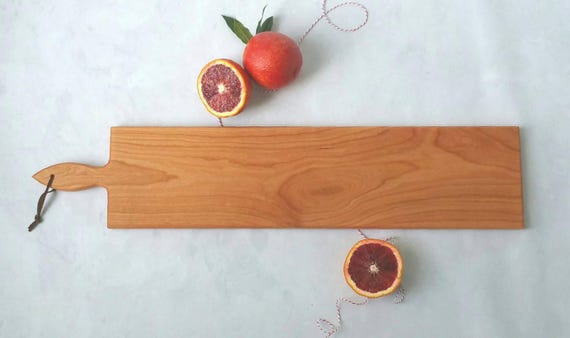 26 inch- French Loaf Bread Board- Cherry Cheese Board by Red Maple Run
