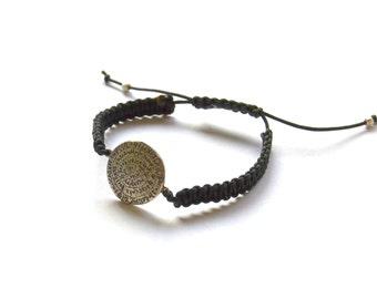 greek  bracelet - phaistos disc bracelet, Minoan jewelry -  adjustable size