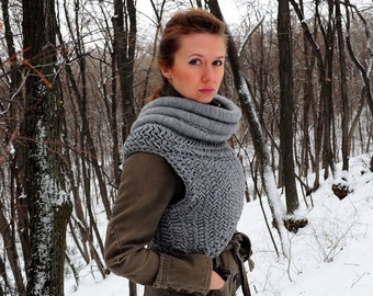 Katniss inspired cowl. Made to order (based on the movie The Hunger Games: Catching The Fire)