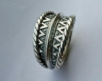 Handmade Sterling Silver Viking Ring