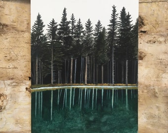 Watery Reflection Original Painting