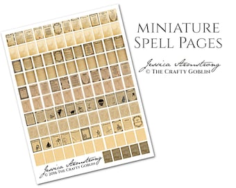 Miniature Spell Pages PDF Download
