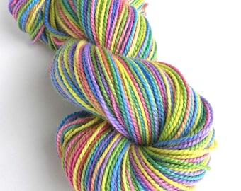 Hand Dyed Yarn Merino Wool Baby Alpaca Silk Sport Weight Yarn 240 yards Soft Indie Dyed Colorful Space Dyed Yarn - Over the Rainbow