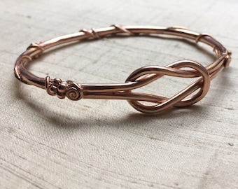Love Spell Bangle- Rose Gold Plated Pink Silver