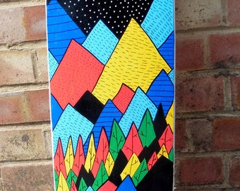 The Mountains and The Forests Skateboard Deck