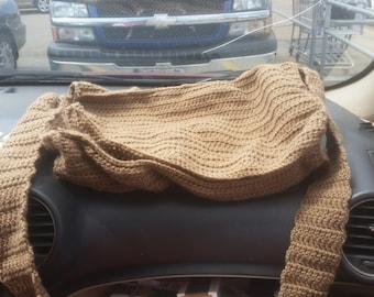 Crochet messenger bag, wizards bag, larp bag, RenFaire bag