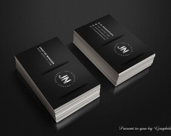 Business Card Template | Easy for Edit | Suitable for all | INSTANT DOWNLOAD | 300 DPI, black color, business card template, calling card