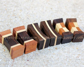 Wooden Chopstick Rest Chopstick Holder Rosewood White Wood Set of 6 #8