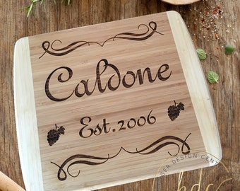 Personalized Cutting Board-Last Name Cutting Board-Housewarming Gift-Personalized