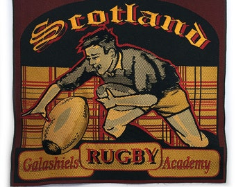 Wonderful really big woven badge : « Scotland rugby » (Ref. B16)