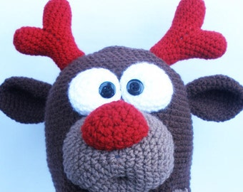 Deer hat, baby hat, Crazy hat, Crazy hat for him, Gift for him, Boyfriend gift, Cool hat, Hat with eyes