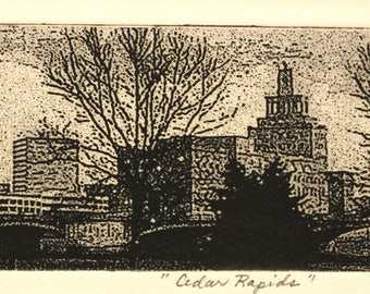 Etching, Cedar Rapids, Iowa