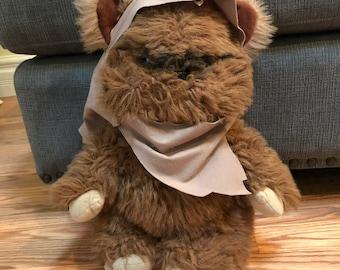 "1983 Kenner Original Star Wars WICKET THE EWOK w/Cape 15"" Plush Stuffed Animal"