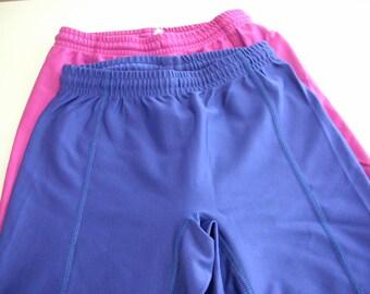 Lycra Bike Shorts GAP Size Small Spandex Hot Magenta and Grape Like NEW Pink and Purple Workout shorts Long shorts Exercise